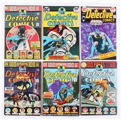 "Lot of (6) 1973-74 ""Detective Comics"" #436-#441 DC Comic Books"