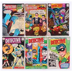"""Lot of (6) 1973-74 """"Detective Comics"""" DC Comic Books with #336, #341, #347, #357, #366,  #374"""