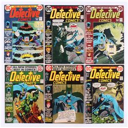 """Lot of (6) 1972-73 """"Detective Comics"""" DC Comic Books with #425, #426, #432, #433, #434,  #435"""