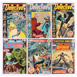 """Lot of (6) 1971-72 """"Detective Comics"""" DC Comic Books with #413, #414, #419, #421, #422,  #423"""