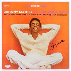"""Johnny Mathis Signed """"I'll Buy You a Star"""" Record Cover (PSA COA)"""