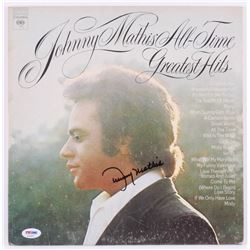 """Johnny Mathis Signed """"Johnny Mathis' All-Time Greatest Hits"""" Record Cover (PSA COA)"""