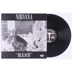 "Dave Grohl Signed Nirvana ""Bleach"" Vinyl Record Album Cover (PSA COA)"