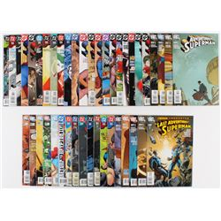 """Lot of (44) 2002-2011 DC """"Adventures of Superman"""" Comic Books with Issues #657, #665, #690, #698, #7"""