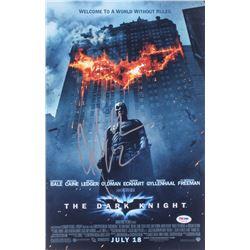 "Christian Bale Signed ""The Dark Knight"" 12x18 Photo (PSA COA)"