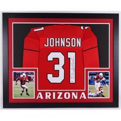 David Johnson Signed 35x43 Custom Framed Jersey (Beckett COA)
