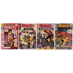"""Lot of (4) 1965-1967 Marvel """"The Avengers"""" 1st Series Comic Books with Issues #22, #23, #24  Annual"""