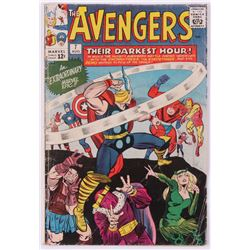 """1964 Marvel """"The Avengers"""" Issue #7 1st Series Comic Book"""