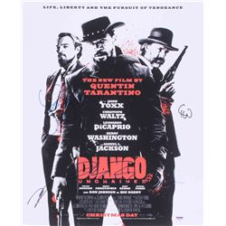 """Django Unchained"" 16x20 Photo Signed by (4) with Quentin Tarantino, Leonardo DeCaprio, Christoph Wa"