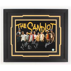 """The Sandlot"" 18x22 Custom Framed Photo Display Cast-Signed by (6) With Tom Guiry, Marty York, Shane"