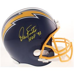 "Dan Fouts Signed San Diego Chargers Full-Size Throwback Helmet Inscribed ""HOF 93"" (Beckett COA)"