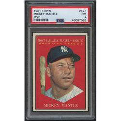 1961 Topps #475 Mickey Mantle MVP (PSA 7)