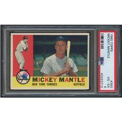 1960 Topps #350 Mickey Mantle (PSA 4)