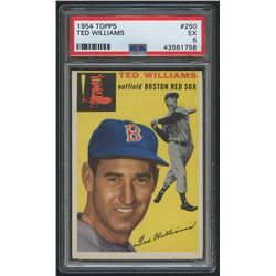 1954 Topps #250 Ted Williams (PSA 5)