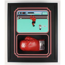 """Mike Tyson Signed """"Punch-Out!!"""" 22x26x5.25 Custom Framed Boxing Glove Shadowbox Display (Fiterman Ho"""