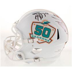 Jarvis Landry  Jay Ajayi Signed Miami Dolphins 50th Season Full-Size Speed Helmet (JSA COA)