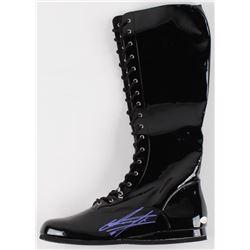 The Undertaker Signed Wrestling Boot (JSA COA)