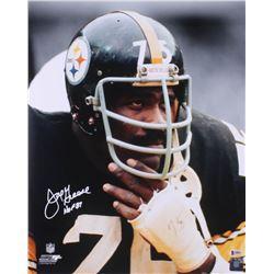 """Joe Greene Signed Pittsburgh Steelers 16x20 Photo Inscribed """"HOF 87"""" (Beckett COA)"""