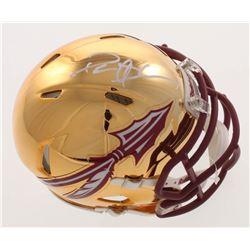 Deion Sanders Signed Florida State Seminoles Chrome Mini Speed Helmet (Beckett COA)