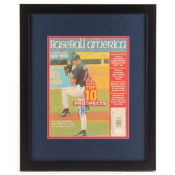 "Adam Miller Signed ""Baseball America"" 18x22 Custom Framed Magazine Page Display (JSA COA)"