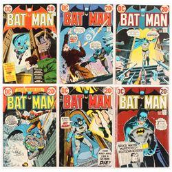 """Lot of (6) 1972-73 """"Batman"""" #245-#250 DC Comic Books"""