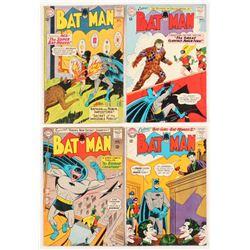 "Lot of (4) 1963-64 ""Batman"" DC Comic Books with #158, #159, #162,  #163"