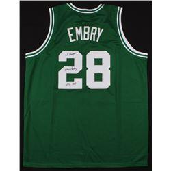 "Wayne Embry Signed Jersey Inscribed ""68 Champs""  ""HOF 1999"" (JSA COA)"