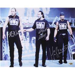 """""""Hollywood"""" Hulk Hogan, Kevin Nash  Scott Hall Signed NWO 16x20 Photo (MAB Hologram)"""