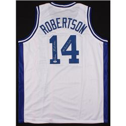 "Oscar Robertson Signed Jersey Inscribed ""Mr. Triple Double"" (PSA COA)"