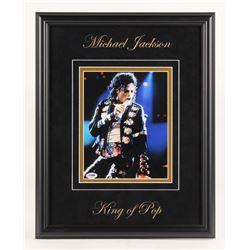 Michael Jackson Signed 16x20 Custom Framed Photo Display (PSA LOA)