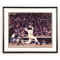 Reggie Jackson Signed New York Yankees 21x25 Custom Framed Photo Display (UDA COA)
