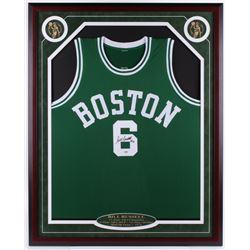Bill Russell Signed 32.5x40.75 Custom Framed Jersey (PSA COA)