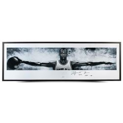 "Michael Jordan Signed Chicago Bulls ""Wings"" 27x76 Custom Framed Limited Edition Poster Inscribed ""20"