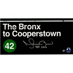 """Mariano Rivera Signed """"Bronx to Cooperstown"""" 6x12 Photo Inscribed """"HOF 2019"""" (Steiner Hologram)"""