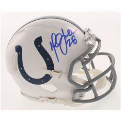 Marshall Faulk Signed Indianapolis Colts Mini Speed Helmet (Beckett COA)