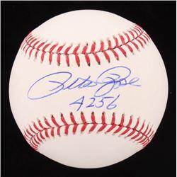 "Pete Rose Signed OML Baseball Inscribed ""4256"" (Fiterman Hologram)"