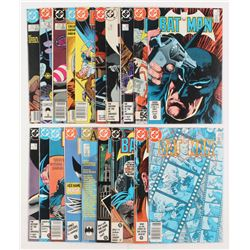 """Lot of (19) 1985-1987 DC """"Batman"""" Comic Books Issues with #395, #384, #408, #397, #401"""