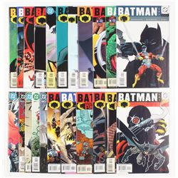 """Lot of (22) 2001-2003 DC """"Batman"""" Comic Books Issues with #592, #595, #605, #608, #610, #612"""