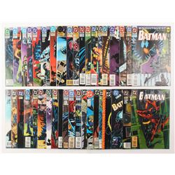 """Lot of (39) 1989-1995 DC """"Batman"""" Comic Books Issues with #503, #500, #523, #496, #514"""