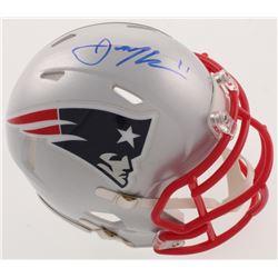 Julian Edelman Signed New England Patriots Speed Mini Helmet (Beckett COA)