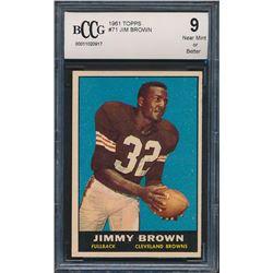 1961 Topps #71 Jim Brown (BCCG 9)