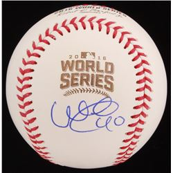 Willson Contreras Signed 2016 World Series Logo Baseball (JSA COA)