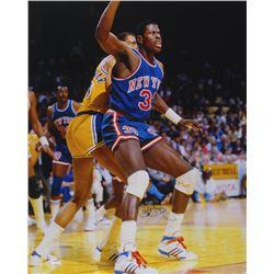 Patrick Ewing Signed New York Knicks 16x20 Photo (Steiner COA)