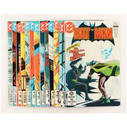 """Lot of (13) 1981-1982 DC """"Batman"""" Comic Books Issues with #345, #341, #339, #346, #348"""