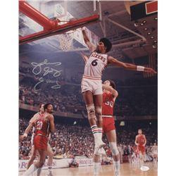 "Julius ""Dr. J"" Erving Signed Philadelphia 76ers 16x20 Photo (JSA COA)"