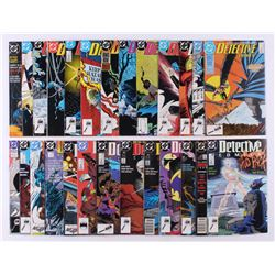 """Lot of (26) 1988-1990 DC """"Detective Comics"""" 1st Series Comic Books Issues with #587, #595, #603, #58"""