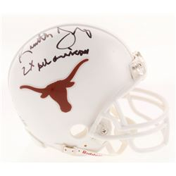 "Kenneth Sims Signed Texas Longhorns Mini Helmet Inscribed ""2X All American"" (JSA COA)"