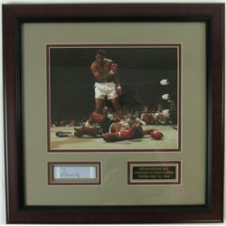 Muhammad Ali Signed Custom Framed Display (JSA LOA)