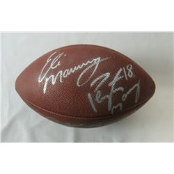 Archie, Peyton  Eli Manning Signed Official NFL Football (JSA Hologram)