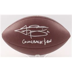 "Johnny Manziel Signed Football Inscribed ""Comeback $ZN"" (JSA COA)"